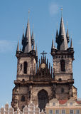 Tyn Cathedral in Prague Stock Photo