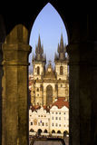Tyn Cathedral in Prague Royalty Free Stock Photo