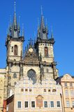 Tyn cathedral in summer, Prague Stock Photo