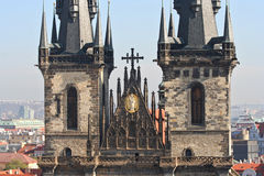 Tyn Cathedral Towers Royalty Free Stock Photography