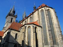 Tyn church. Old town square, Prague Royalty Free Stock Image