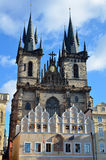 Tyn church architecture in city of Prague Royalty Free Stock Photo