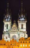 Tyn Church, landmark of Prague old city Royalty Free Stock Images