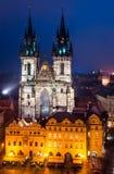 Tyn Church, landmark of Prague old city royalty free stock photos