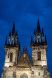 Tyn Church in night Royalty Free Stock Photos