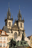 Tyn church, Old Square, Prague. Stock Images