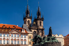 Tyn Church in Old Town Square in Prague. Stock Images