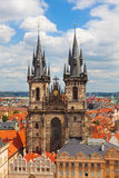 Tyn Church in Old Town Square Prague Royalty Free Stock Images