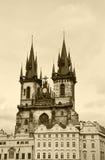 Tyn Church, Prague Stock Image