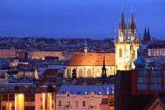 Tyn church in Prague Stock Image