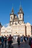 Tyn Church in Prague Royalty Free Stock Photos