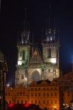 Tyn Church in Prague, Czech Republic Stock Images