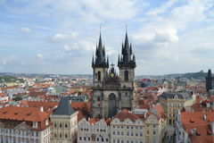 Tyn Church in Prague Stock Photo