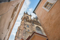 The Tyn Church in Prague Royalty Free Stock Photography