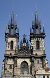 Tyn Church - Prague - Czech Republic Royalty Free Stock Photos
