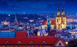 Tyn Church in Prague. Czech Republic Stock Photos