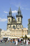 Tyn church of Prague - Czech Republic Stock Photos