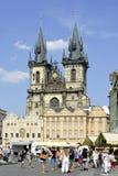 Tyn church of Prague - Czech Republic Stock Photos