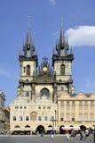 Tyn church of Prague - Czech Republic Stock Image