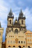 Tyn church in Prague Stock Image