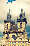 Tyn church in Prague Stock Photography