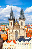 Tyn church in Prague Stock Images