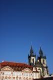 Tyn Kathedrale in Prag stockbild