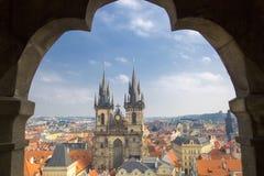 Tyn-Kirche in Prag Lizenzfreie Stockbilder