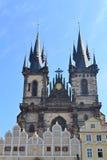 Tyn kościół w Praga Obrazy Royalty Free