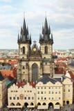 Tyn kyrka Royaltyfri Fotografi