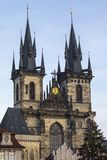 Tyn kyrka i Prague Royaltyfri Fotografi