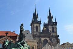 Tyn kyrka i Prague Royaltyfri Foto