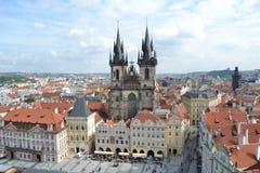 Tyn kyrka i Prague Royaltyfria Foton