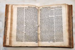 Tyndale, 1538. William Tyndale's 1538 edition of the English New Testament, which showed the English text and Erasmus' Latin text. From the Reed Rare Books