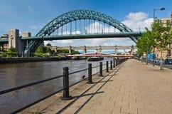 Tyne överbryggar på Newcastle Royaltyfri Bild
