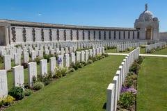 Tyne łóżka polowego cmentarz Fotografia Stock