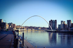 The Tyne. A beautiful view of the river Tyne and the Millennium bridge arching gracefully over it Royalty Free Stock Photos