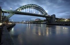 Tyne-Brücken-Morgen Lizenzfreie Stockfotos