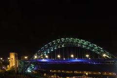 Tyne Bridge über der Tyne, Newcastle, England, nachts Stockfotografie
