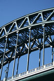 Tyne Bridge. Magnificient brige which crosses from the Newcastle side to the Gateshead side over the River Tyne stock photography