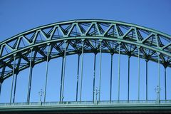Tyne Bridge. Magnificient brige which crosses from the Newcastle side to the Gateshead side over the River Tyne stock photo