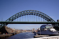 Tyne Bridge. The river Tyne at Newcastle Quayside stock image