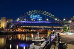 Tyne Bridge i Newcastle på Tyne fotografering för bildbyråer