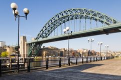 Tyne bridge with lamp posts Stock Images