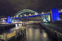 Tyne Bridge Newcastle Arkivbild