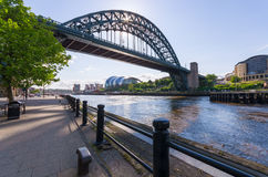Tyne Bridge, Newcastle op de Tyne Stock Foto