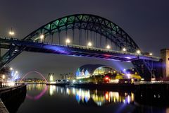 Tyne Bridge, Newcastle på Tyne fotografering för bildbyråer