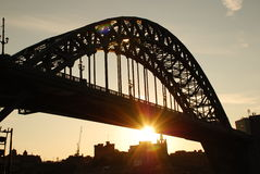 Tyne Bridge. Newcastle upon Tyne, UK. Sunset on Tyne bridge, Newcastle upon Tyne, England royalty free stock photo