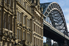 Tyne Bridge and office buildings, Newcastle, UK Royalty Free Stock Image