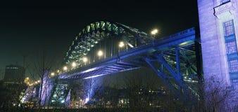 Tyne Bridge på Newcastle Gateshead Arkivbilder